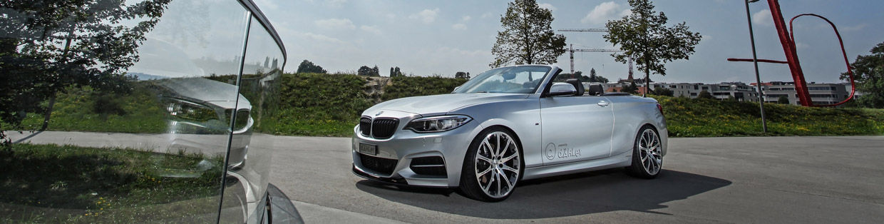 dÄHLer BMW M235i Cabriolet Front and Side View