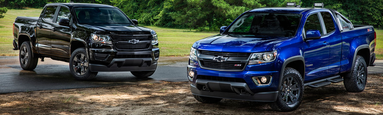 2016 Chevrolet Colorado Midnight and Z71 Trail Boss