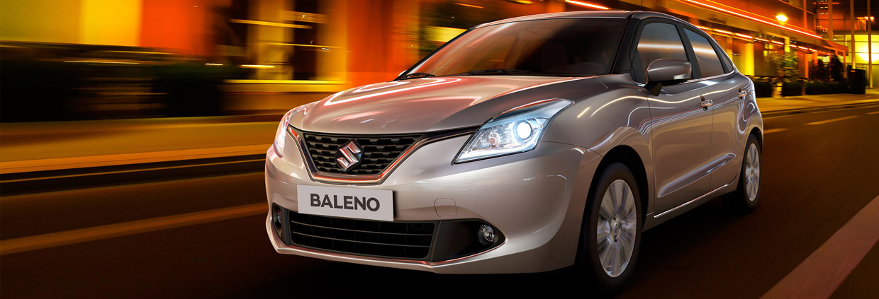 2016 Suzuki Baleno Front and Side View