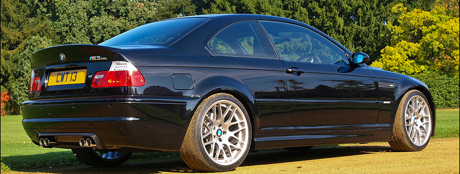 Black BMW M3 CSL E46