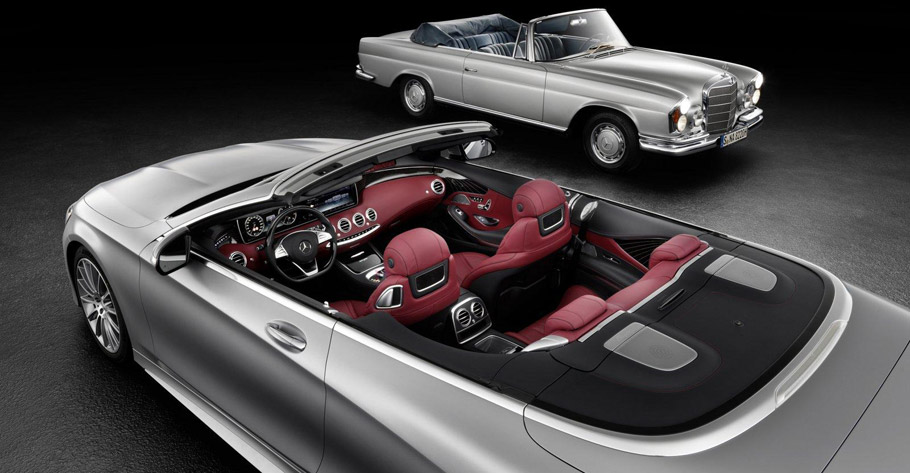 2017 Mercedes-Benz S-Class Cabriolet Rear View Plus Interior View
