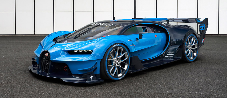 Bugatti Vision Gran Turismo Front and Side View