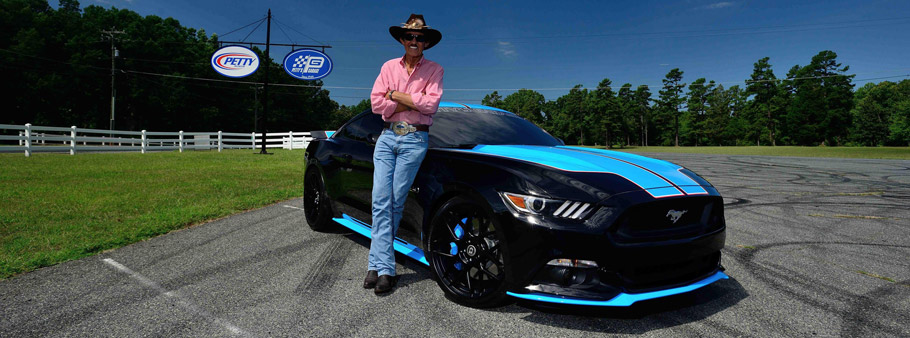 Petty's Garage Ford Mustang GT  and Richard Petty