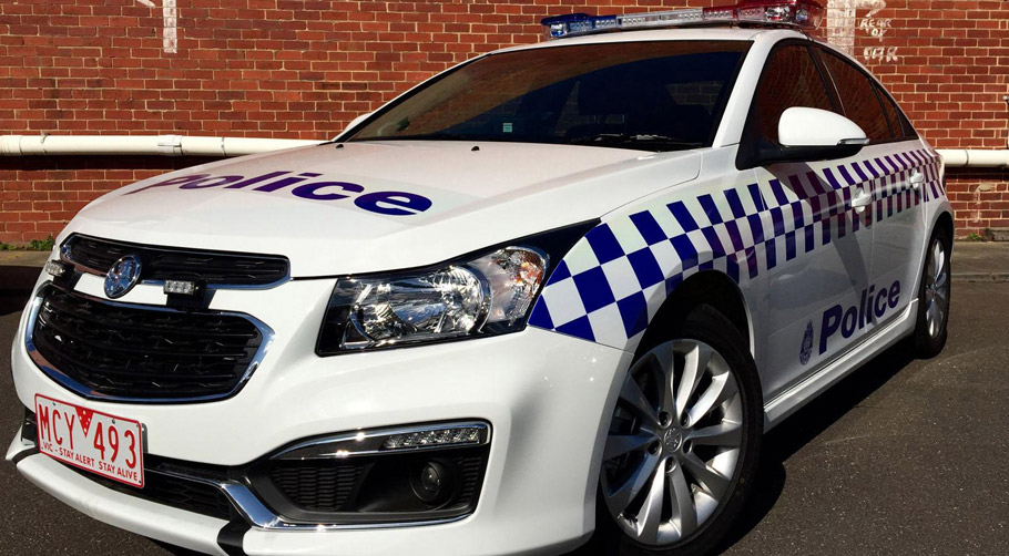 Holden Cruze Victorian Police Vehicle Front and Side View