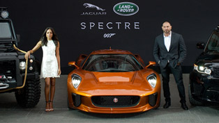 Jaguar Land Rover SPECTRE Vehicles Were Unveiled at 2015 FIAA