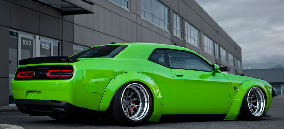 Liberty Walk Dodge Challenger Hellcat Rear and Side view