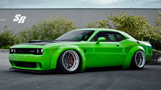 liberty walk dodge challenger hellcat goes green