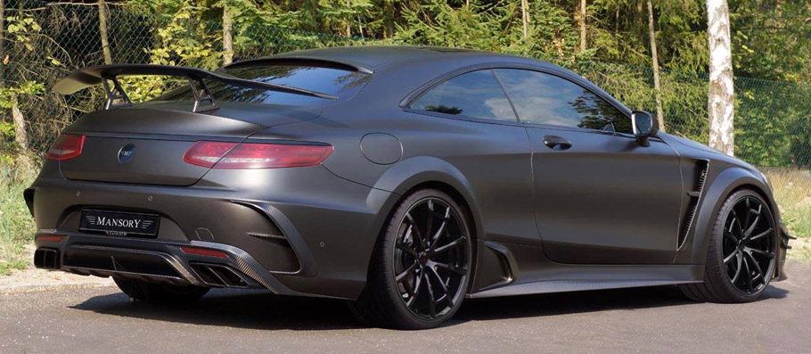 MANSORY Mercedes-AMG S63 Coupe Black Edition Rear View