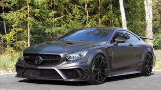 mansory prepares 1000hp mercedes-amg s63 coupe black edition for frankfurt