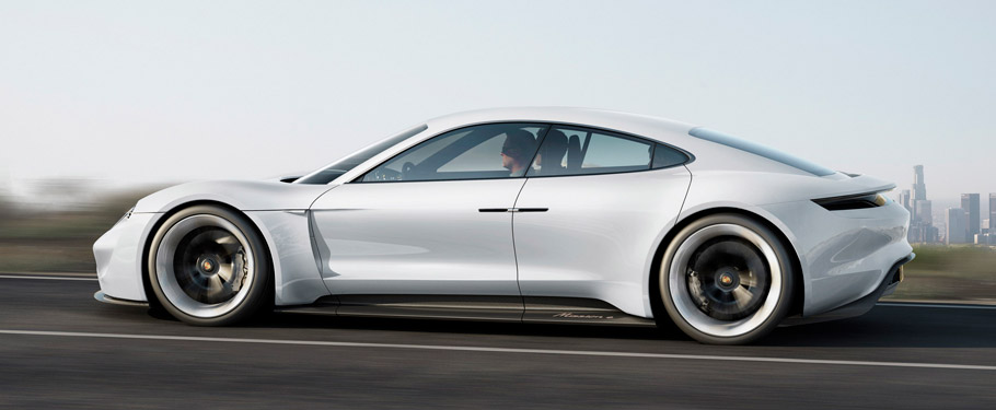 Porsche Mission E Side View