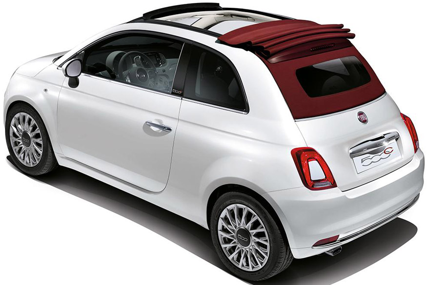 2016 fiat 500 cabrio was sold for raising funds for charity. Black Bedroom Furniture Sets. Home Design Ideas