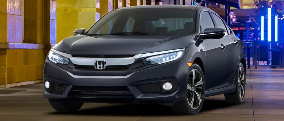 2016 Honda Civic Sedan Touring Front View