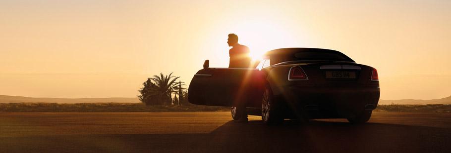 2016 Rolls-Royce Dawn Rear View at Dawn