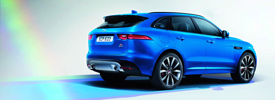 Jaguar F-PACE First Edition Rear and Side View