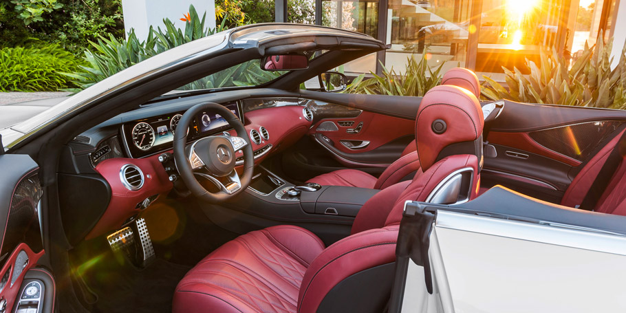 Mercedes Benz S Cl Cabriolet Red Interior
