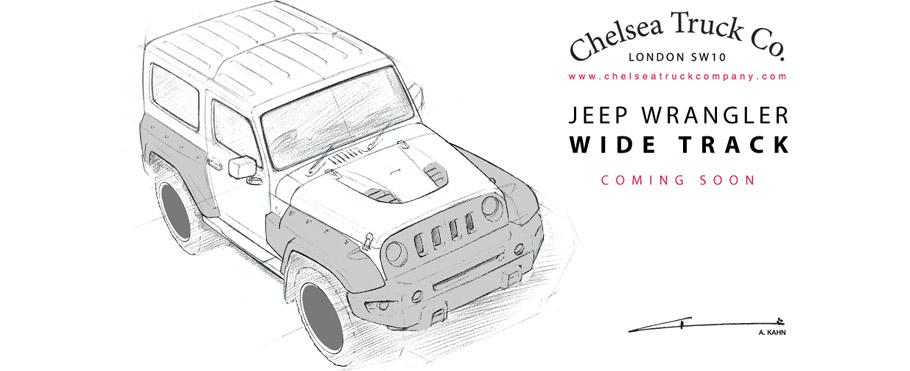 Kahn Jeep Wrangler Chelsea Wide Track Sketch