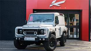 Kahn Releases Silver Land Rover Defender Hard Top CWT