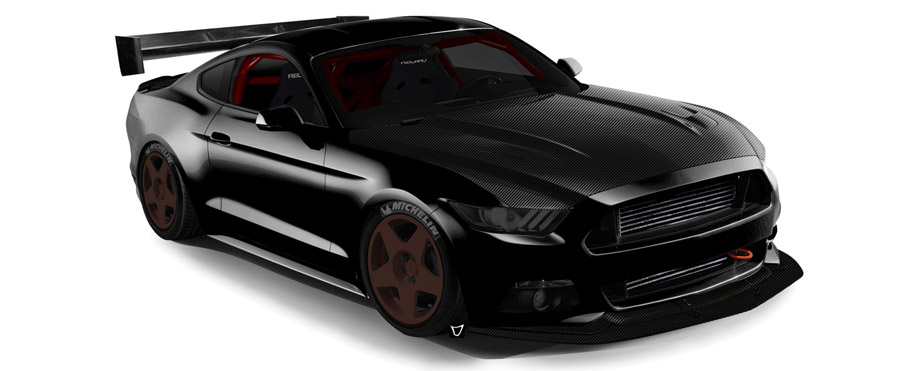 2015 SEMA Bisimoto Ford Mustang Side View