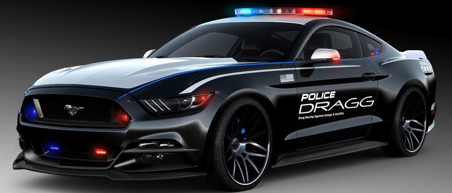 2015 SEMA DRAGG Ford Mustang Side View