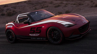 mazda unveiled the mx-5 cup sports vehicle