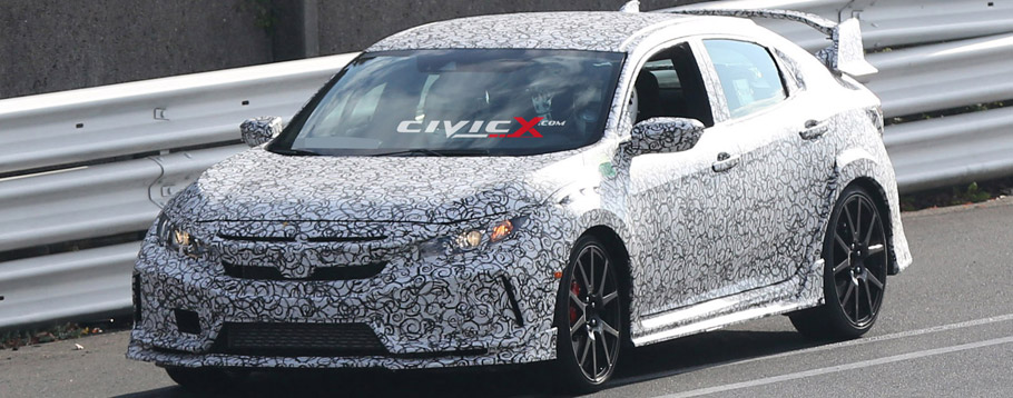 2017 Honda Civic Type R Hatchback Prototype Spy Shot