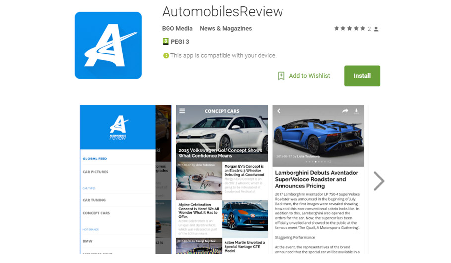 AutomobilesReview App