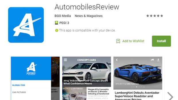 You Can Now Download AutomobilesReview App for Android!