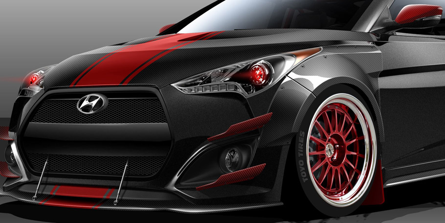 Blood Type Racing Hyundai Veloster Turbo in Close