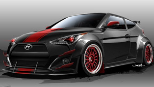 blood type racing reveals first sketch of sema-built veloster turbo