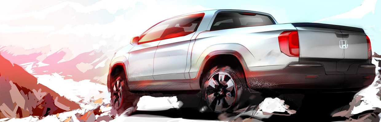 Honda Ridgeline Sketch Preview