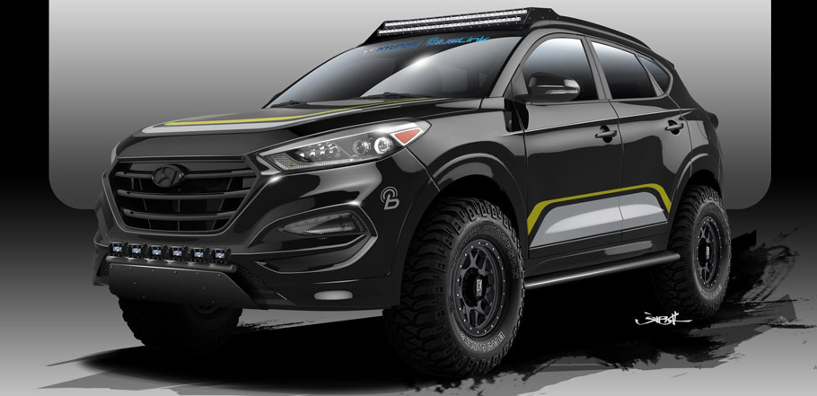 Rockstar Performance Garage Hyundai Tucson Side View Sketch