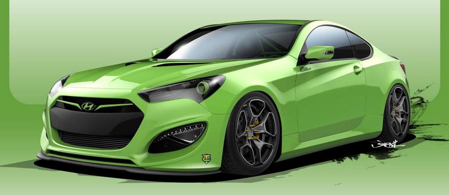 TJIN Edition Hyundai Genesis Sketch