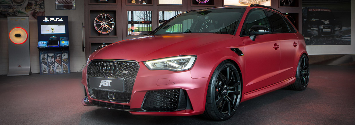 ABT Audi RS3 450 Front and Side View