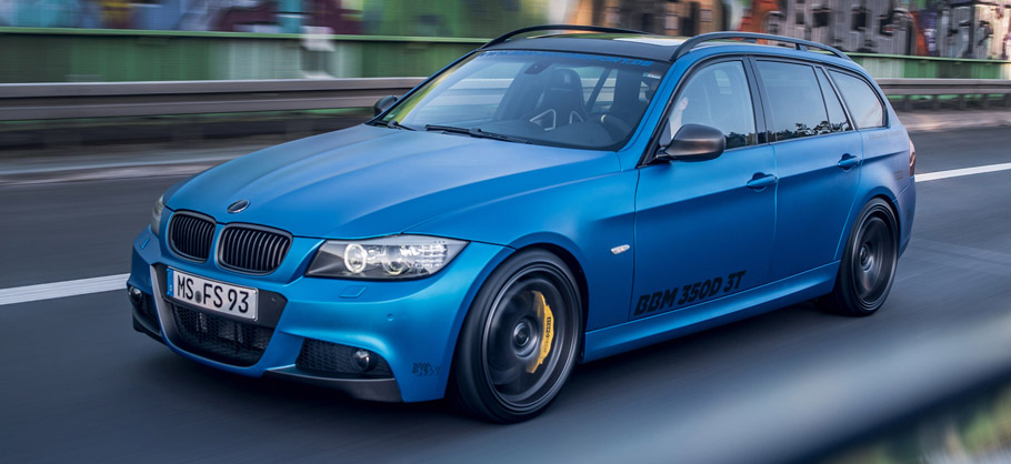 2015 BBM Motorsport BMW 350D 3T Front and Side View