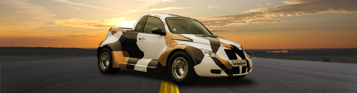 Carbon Motors Chrysler PT Cruiser Widebody Front and Side View