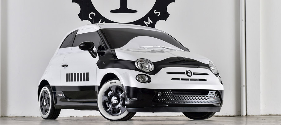 Fiat 500e stormtrooper front view
