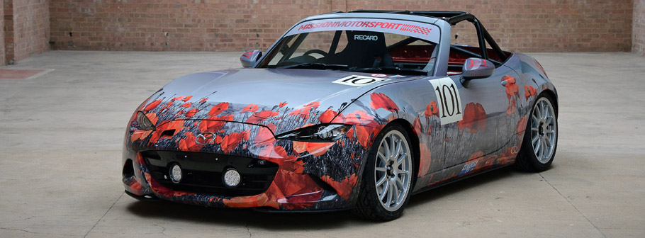 Mazda Race of Remembrance Car