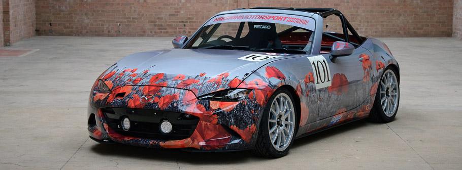 Mazda Race of Remembrance Car