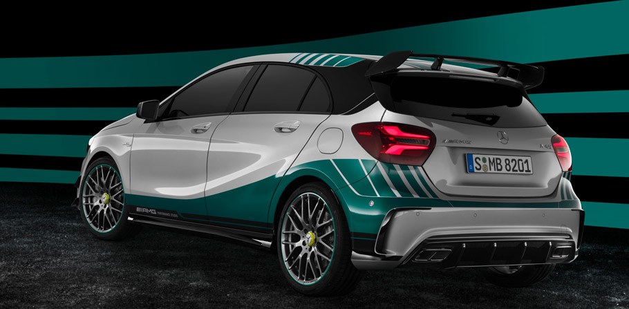 Mercedes-AMG A45 4MATIC Champions Edition Exterior from the Rear