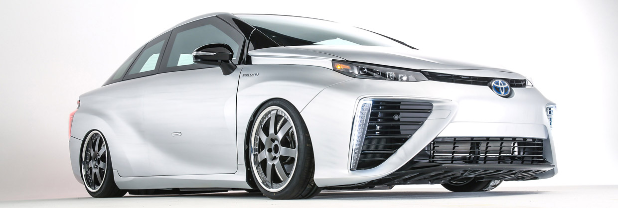 Toyota Back to the Future Mirai Front and Side View