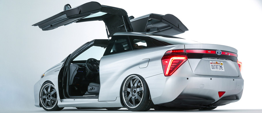 Toyota Back to the Future Mirai Gullwings Opened Rear View
