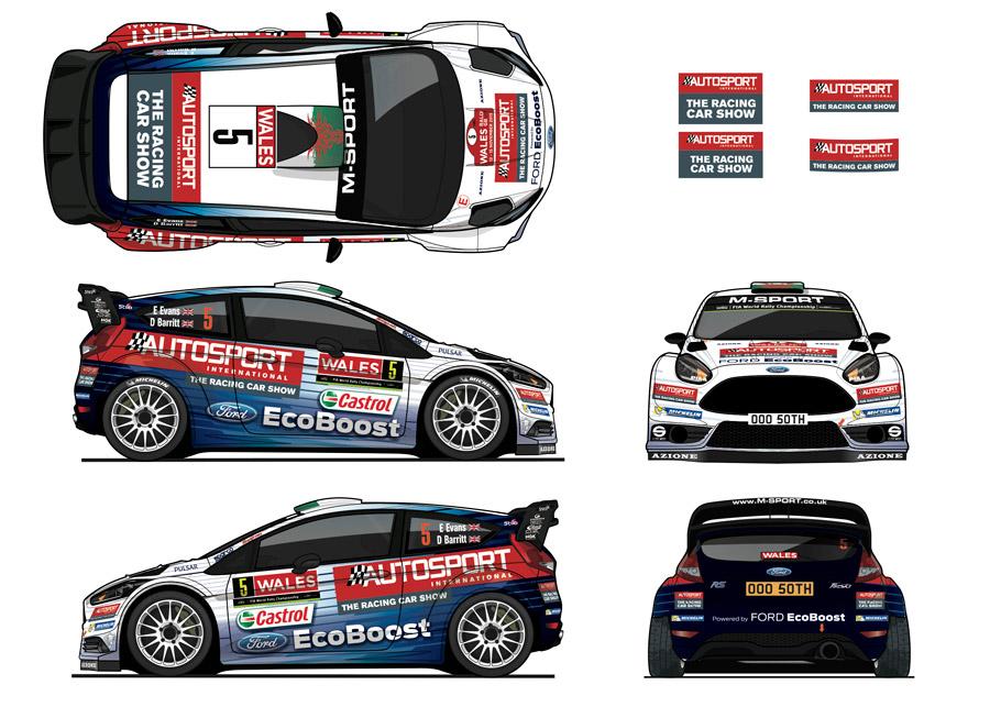 2016 Ford Elfyn Evans M-Sport Fiesta RS WRC