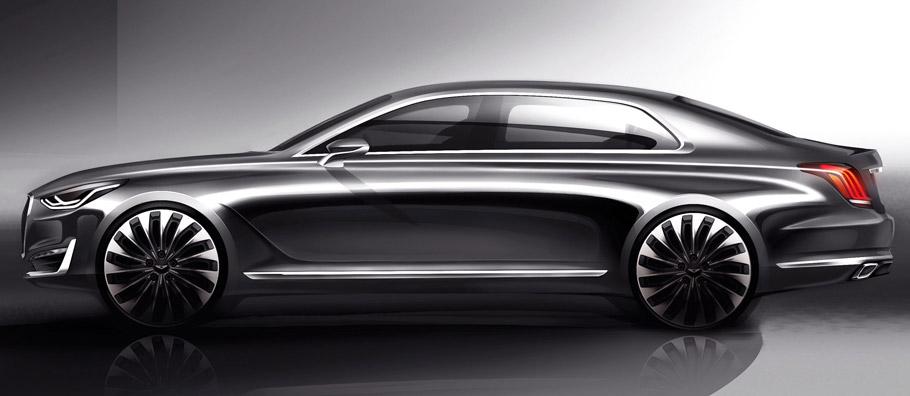Hyundai Genesis G90 Side View