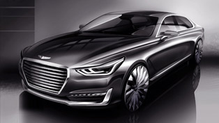 hyundai teases first official genesis model dubbed g90