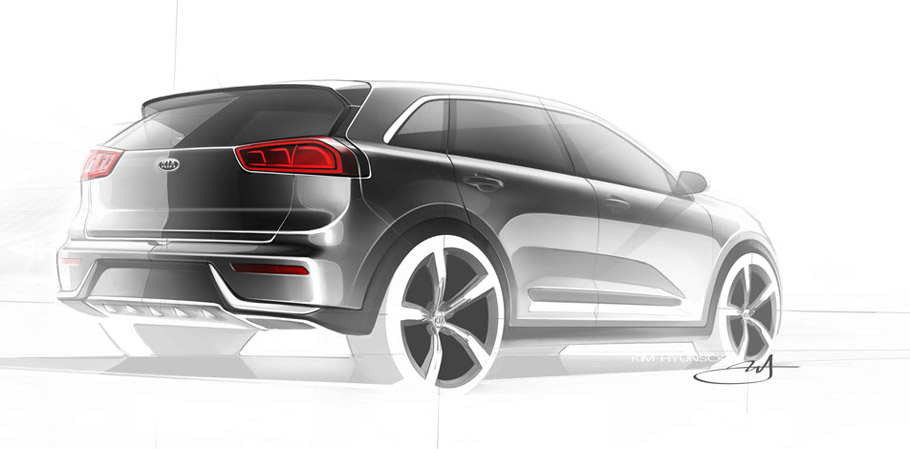 Kia Niro Sketch Rear View