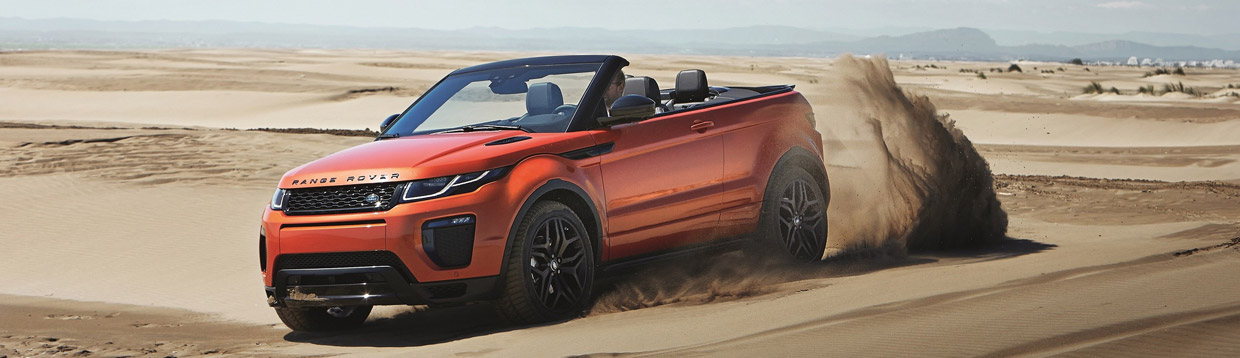 Range Rover Evoque Convertible Front and Side View