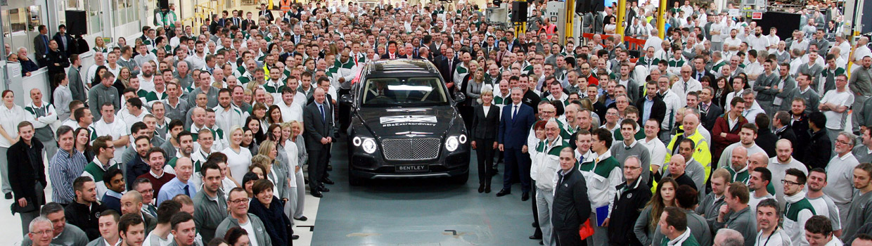 Bentley Bentayga Production Start