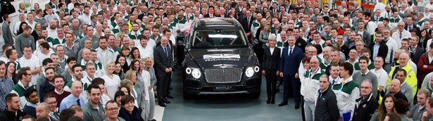 Bentley Rolls Off the Production Line the First Bentayga in Anthracite