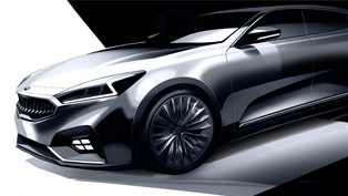 Kia Cadenza Previewed with First Couple of Sketches