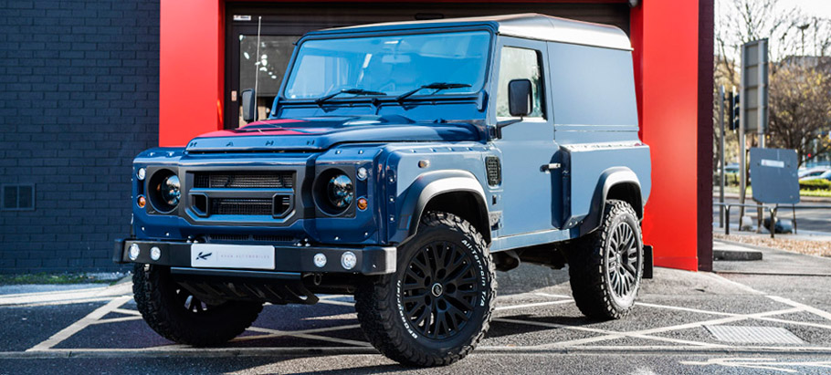 Kahn Land Rover Defender Hard Top CWT in Tamar Blue  Front View